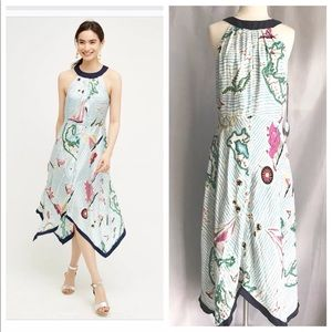 Eva Franco Cartographer Dress Size 12 Handkerchief